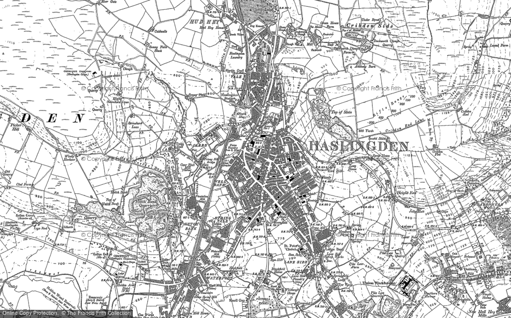 Old Map of Historic Map covering Acre in 1891
