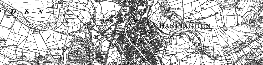 Old map of Acre in 1891