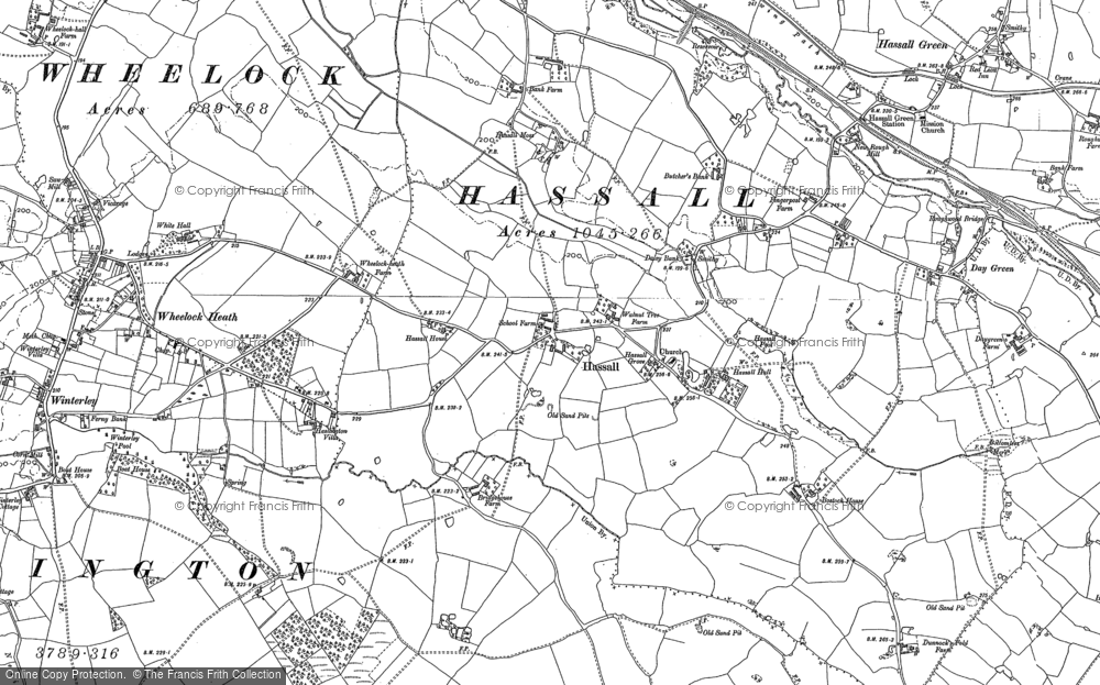 Old Map of Hassall, 1897 - 1908 in 1897