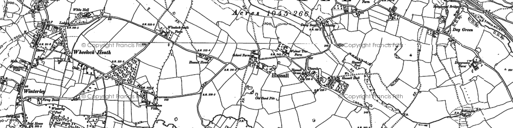 Old map of Hassall in 1897