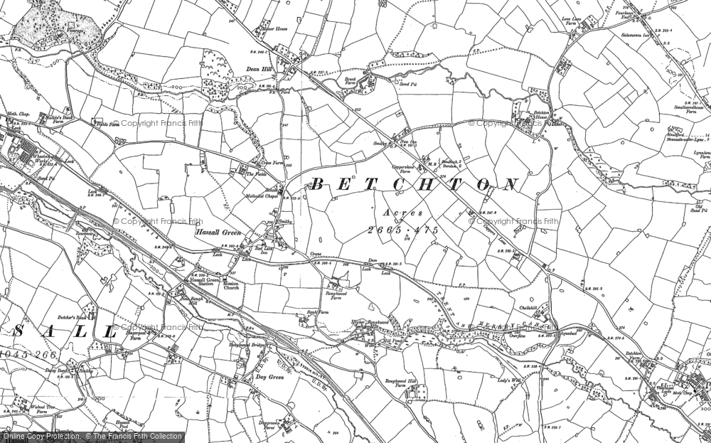 Old Map of Hassall Green, 1897 in 1897