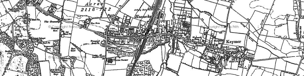 Old map of Woodside Kennels in 1896
