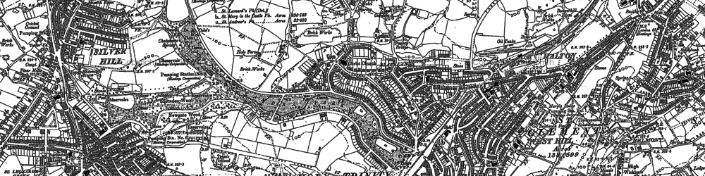 Old map of Hastings in 1908