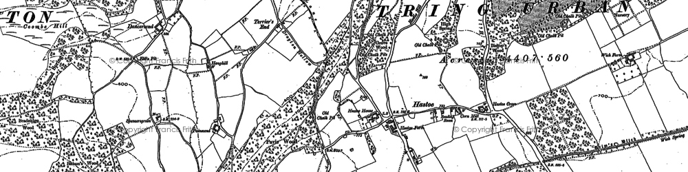 Old map of Hastoe in 1896