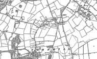 Old Map of Hatch, 1882 - 1900