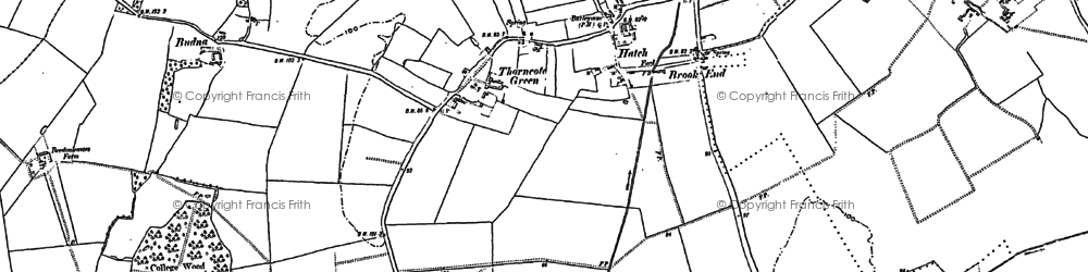 Old map of Hatch in 1882
