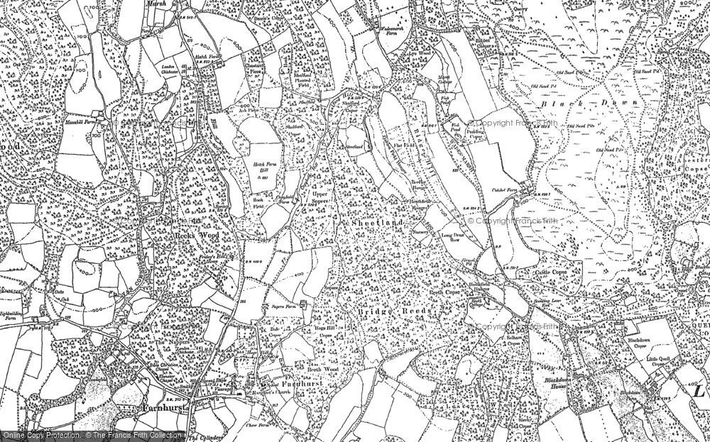 Old Map of Historic Map covering Aldworth Ho in 1910
