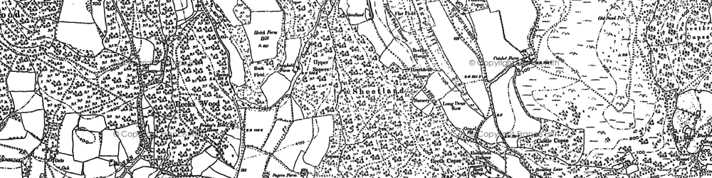 Old map of Aldworth Ho in 1910