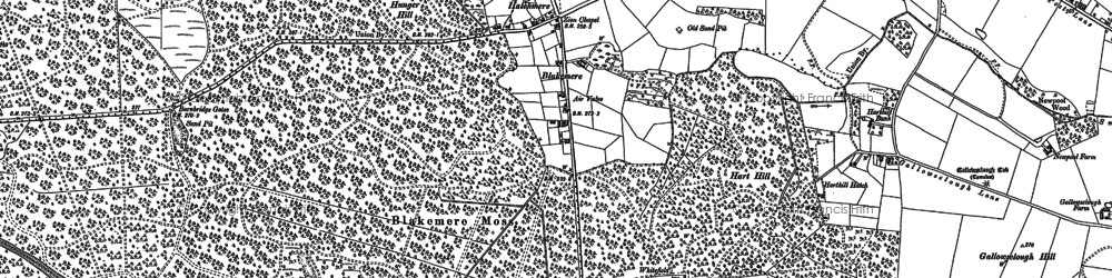 Old map of Hatchmere in 1897