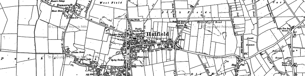 Old map of Lings Windmill in 1891