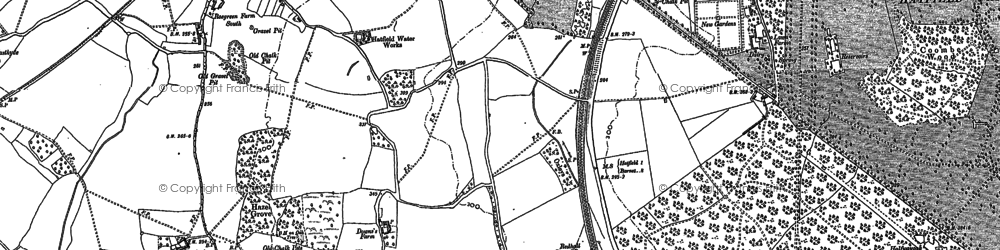 Old map of Oxlease in 1896