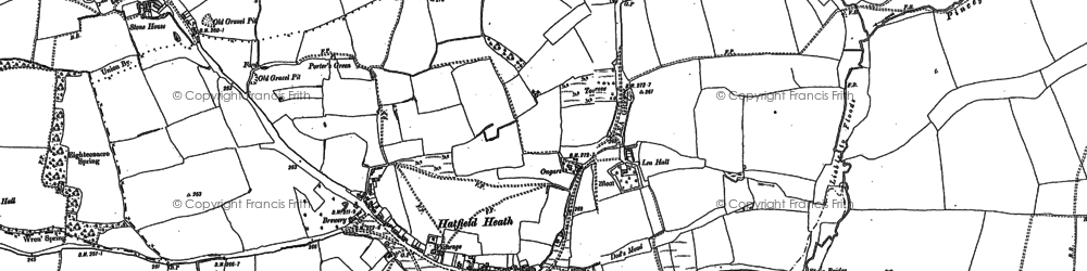 Old map of Lea Hall in 1895
