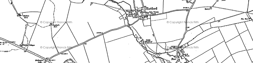 Old map of Woodlands in 1910