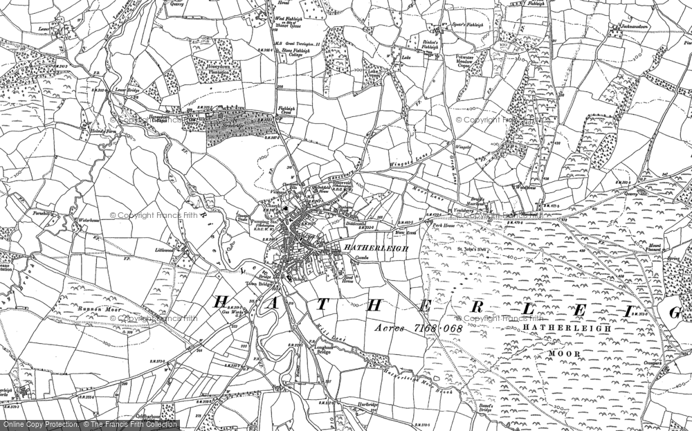 Old Map of Historic Map covering Lewer in 1884