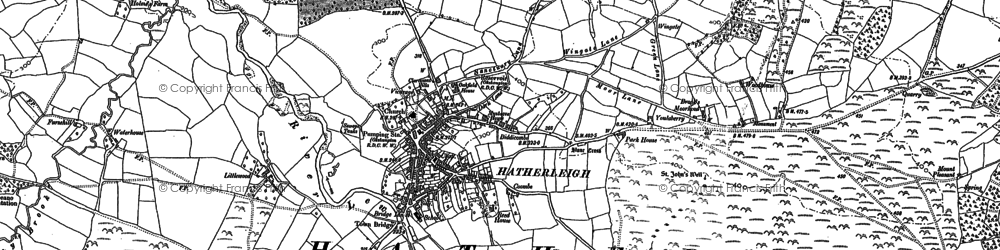 Old map of Lewer in 1884