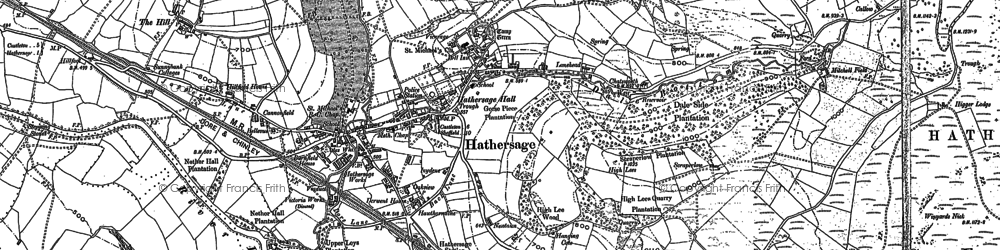 Old map of Hathersage in 1897