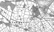 Old Map of Hatherton, 1883