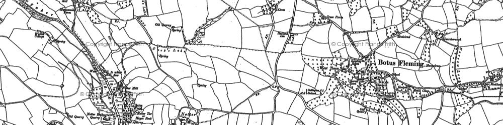Old map of Hatt in 1865