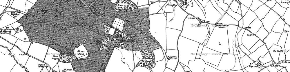 Old map of Aldenham Park in 1882