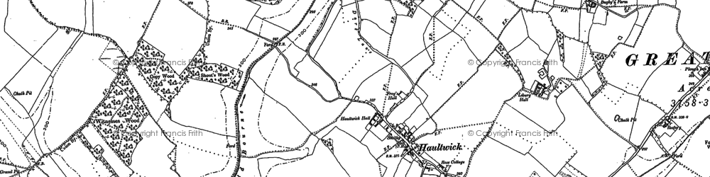 Old map of Haultwick in 1896