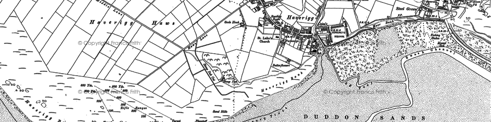 Old map of Haverigg in 1922