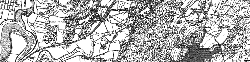 Old map of Haverthwaite in 1911