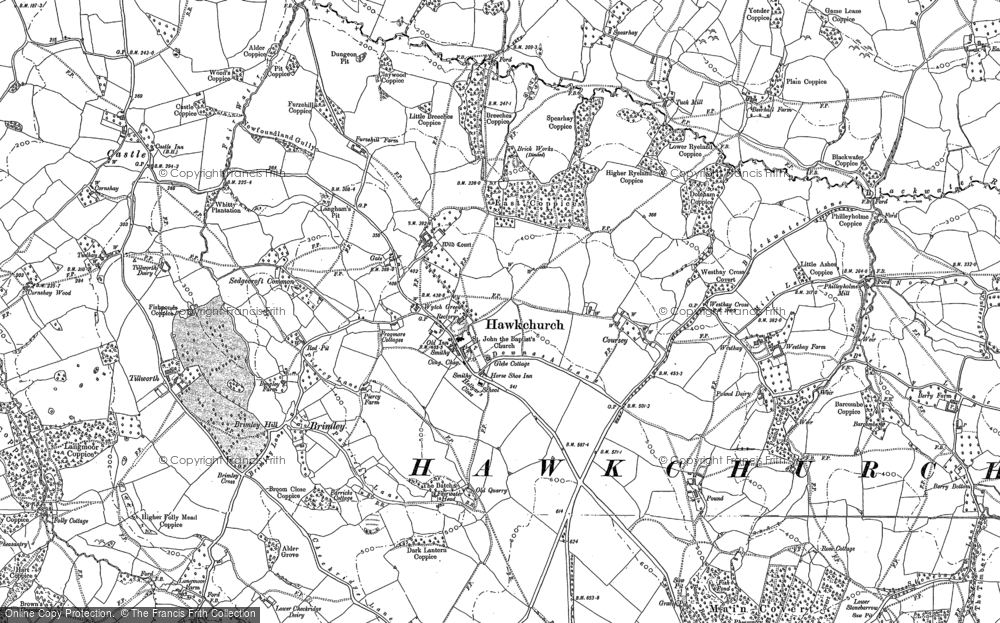 Old Map of Historic Map covering Westhay in 1903