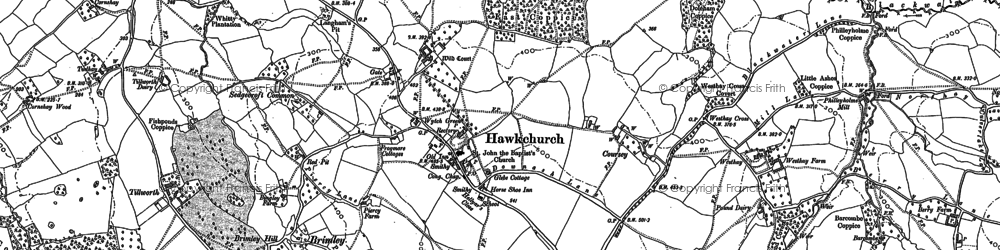 Old map of Westhay in 1903