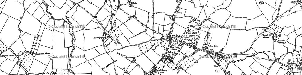 Old map of Bardingley in 1896