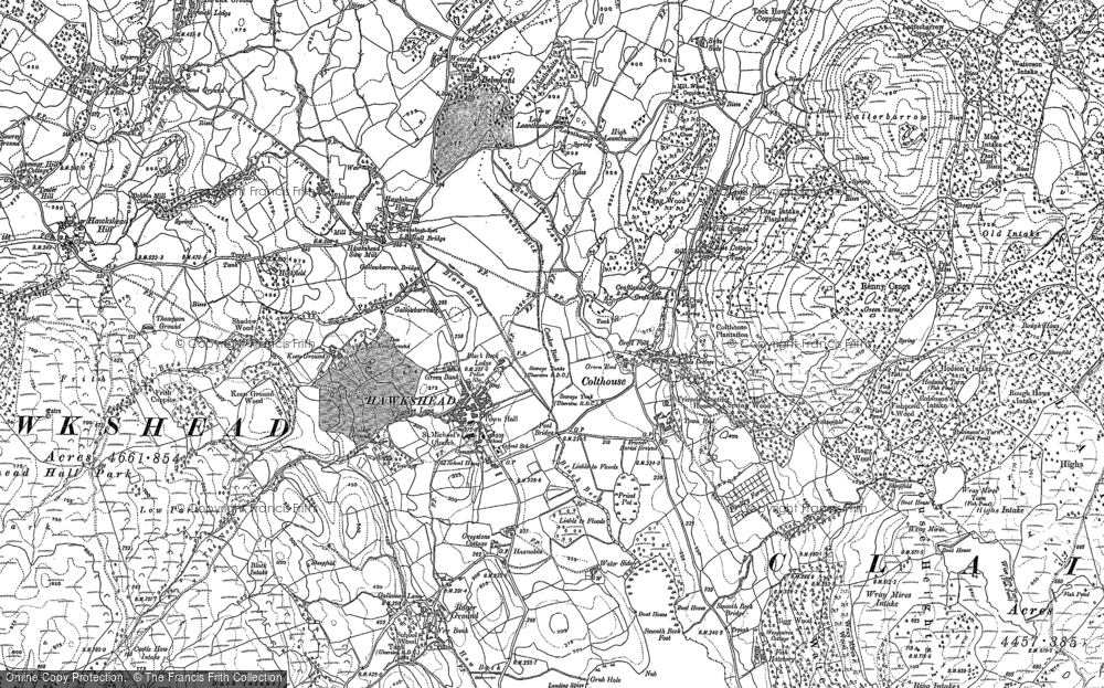 Old Map of Hawkshead, 1912 in 1912