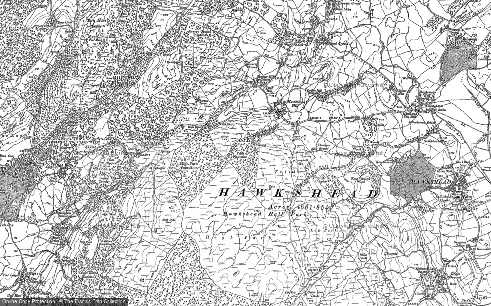 Old Map of Historic Map covering Atkinson Ground in 1912