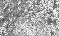 Old Map of Hawkshead Hill, 1912