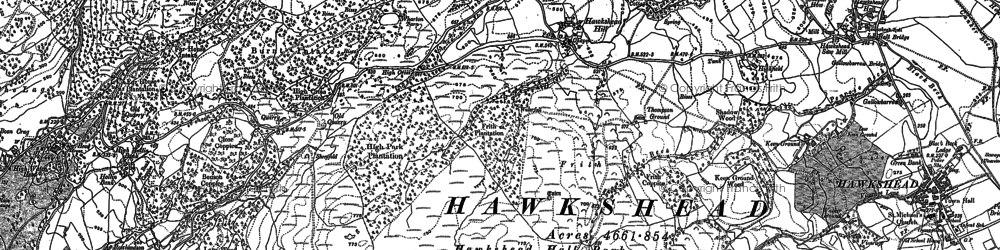 Old map of Atkinson Ground in 1912