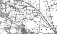 Old Map of Hawkwell, 1895
