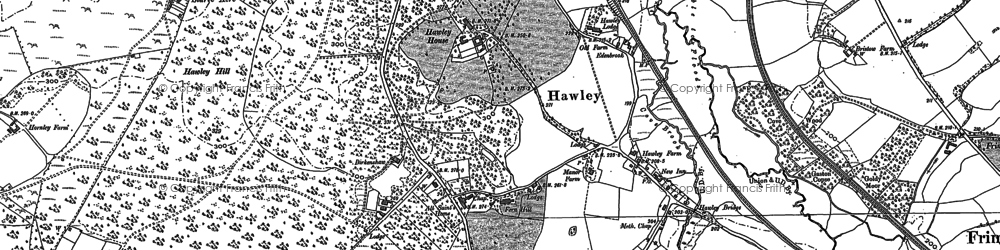 Old map of Hawley in 1909