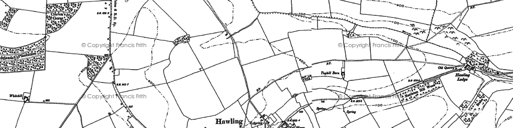 Old map of Windrush Hill in 1883