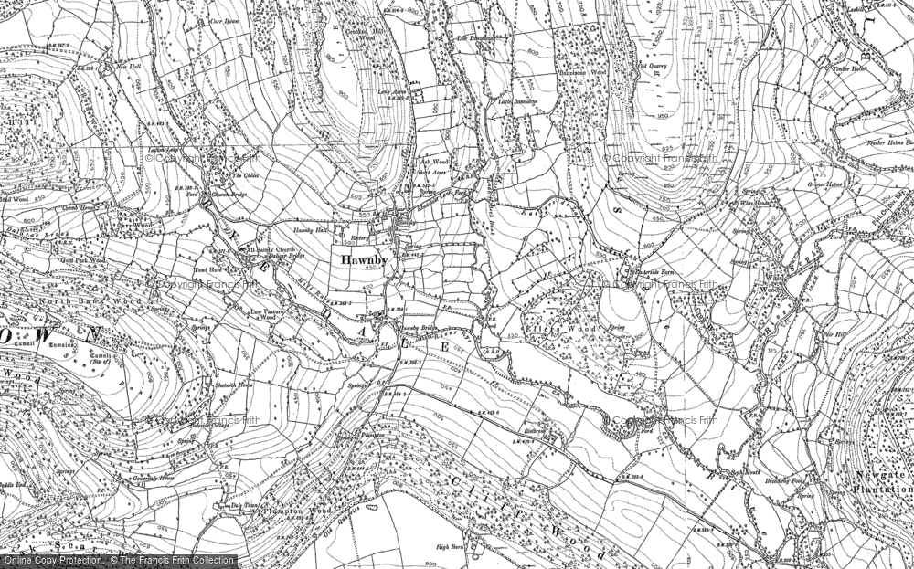 Old Map of Historic Map covering Timber Holme in 1891