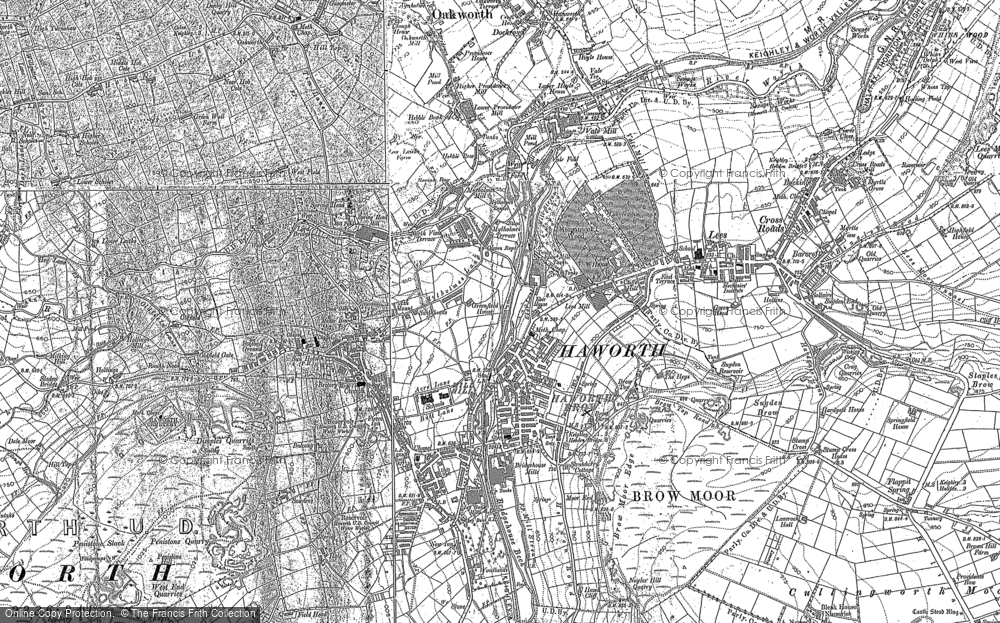Old Map of Historic Map covering Woodlands in 1848