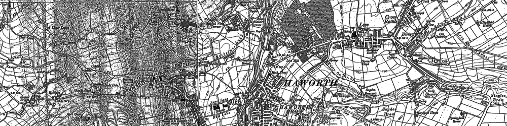 Old map of Haworth in 1848
