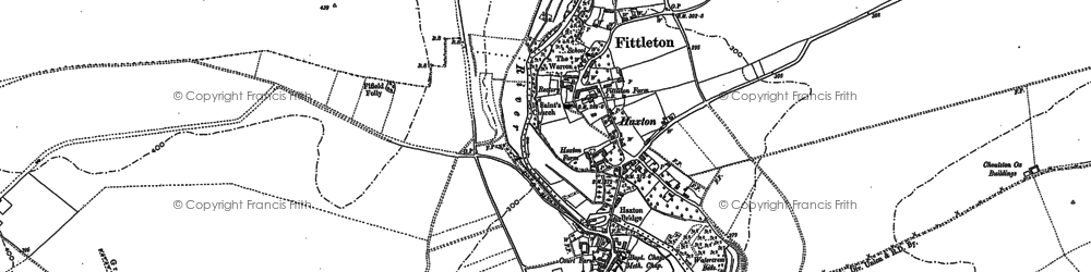 Old map of Airfield Camp Netheravon in 1899