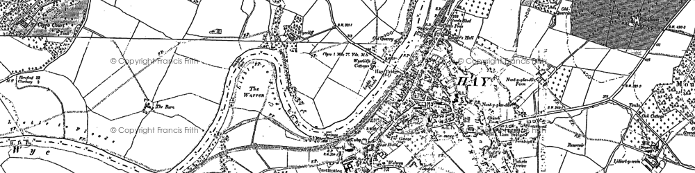 Old map of Wyecliff in 1887