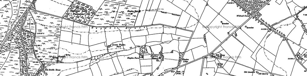 Old map of Whitnell Corner in 1884