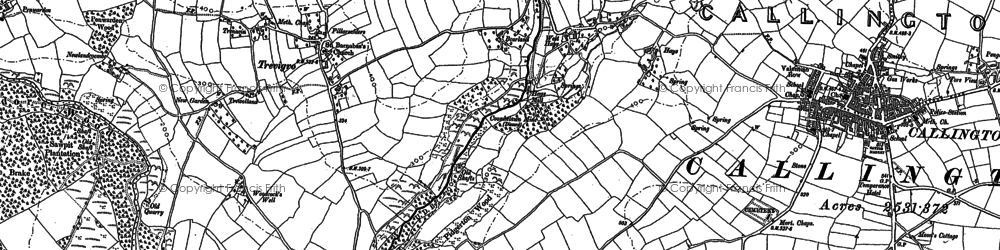 Old map of Haye Fm in 1905