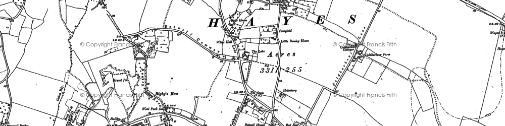 Old map of Yeading Brook in 1894
