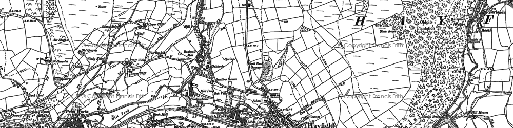 Old map of Hayfield in 1880