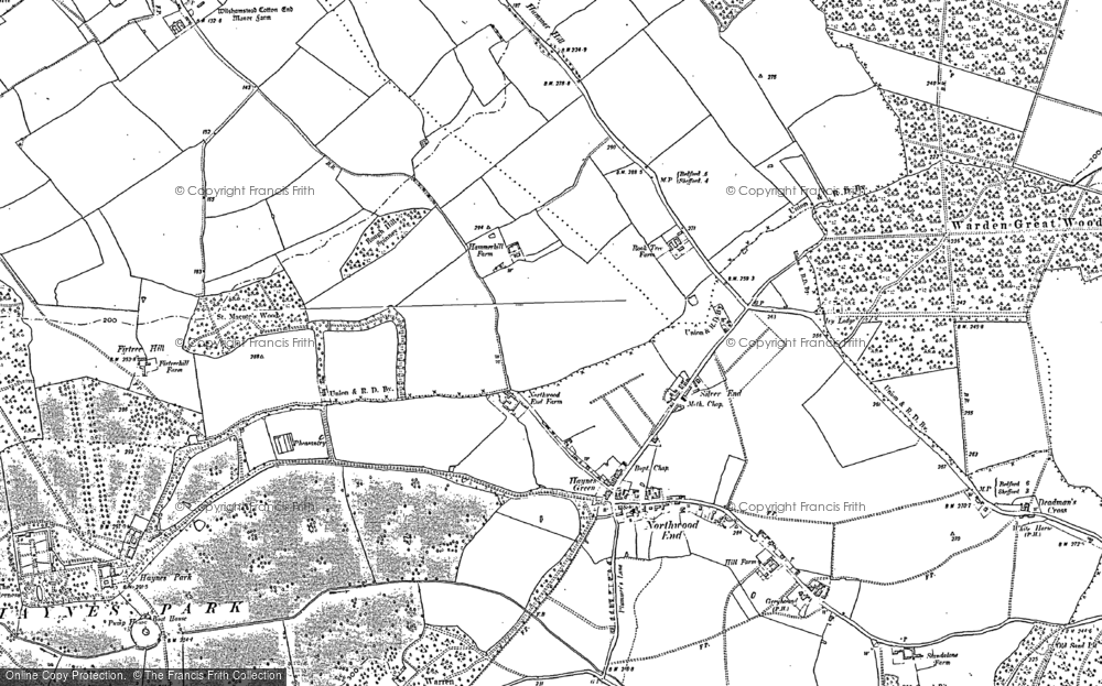 Old Map of Historic Map covering Bedfordshire in 1882