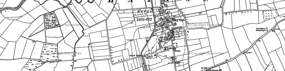 Old map of Tiln Holt in 1885