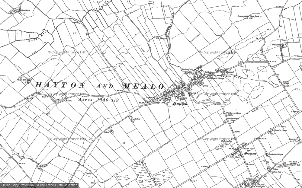 Old Map of Historic Map covering Aiglehill in 1923