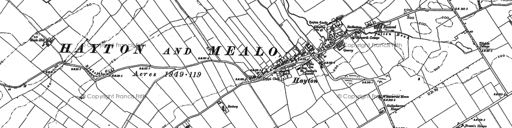 Old map of Hayton in 1923