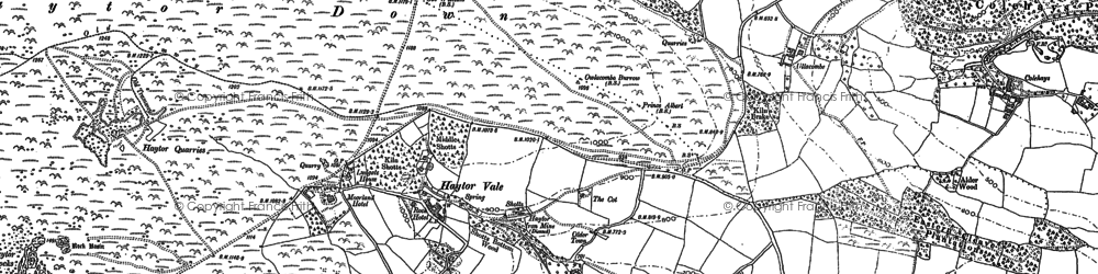 Old map of Yarner in 1885